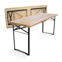location table en bois brasserie